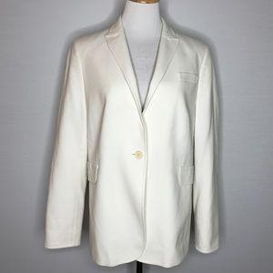 Akris Punto Cream Tailored Suit Jacket
